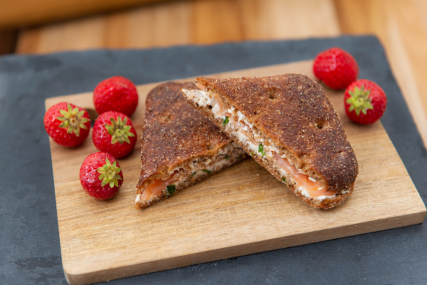 Hälsosam rågbrödsmörgås
